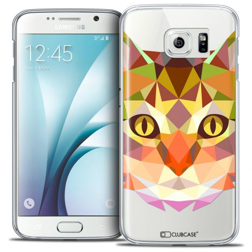 Carcasa Crystal Extra Fina Galaxy S6 Polygon Animals Gato