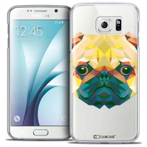 Carcasa Crystal Extra Fina Galaxy S6 Polygon Animals Perro