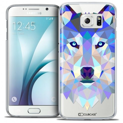Carcasa Crystal Extra Fina Galaxy S6 Polygon Animals Lobo