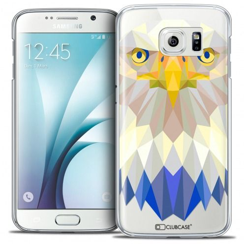Carcasa Crystal Extra Fina Galaxy S6 Polygon Animals Águila