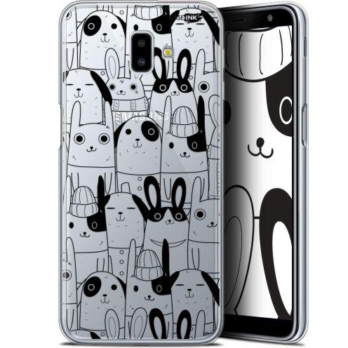 "Carcasa Gel Extra Fina Samsung Galaxy J6 Plus J6+ (6.4"") Design Lapin Noir"
