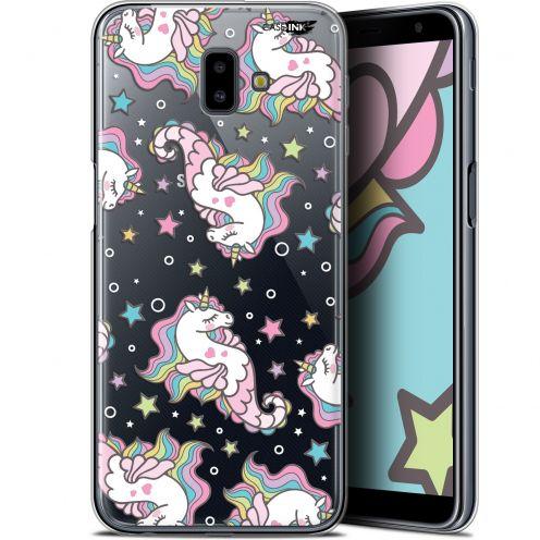 "Carcasa Gel Extra Fina Samsung Galaxy J6 Plus J6+ (6.4"") Design Licorne Dormante"