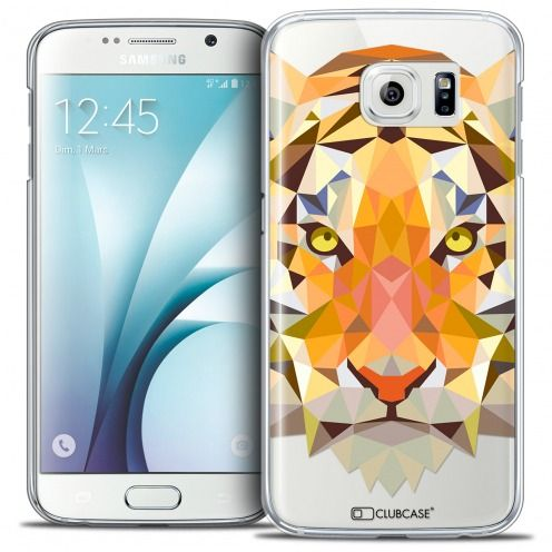 Carcasa Crystal Extra Fina Galaxy S6 Polygon Animals Tigre