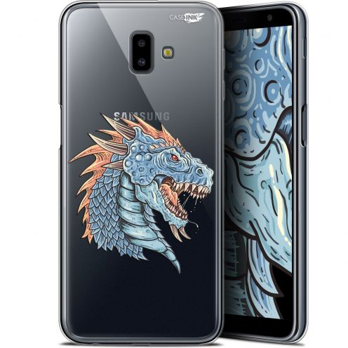 "Carcasa Gel Extra Fina Samsung Galaxy J6 Plus J6+ (6.4"") Design Dragon Draw"