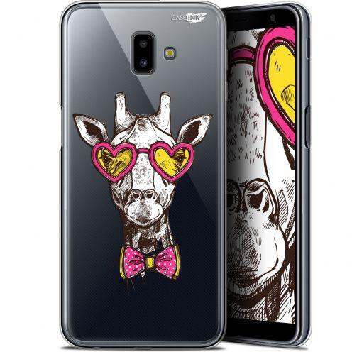 "Carcasa Gel Extra Fina Samsung Galaxy J6 Plus J6+ (6.4"") Design Hipster Giraffe"