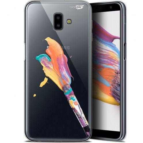 "Carcasa Gel Extra Fina Samsung Galaxy J6 Plus J6+ (6.4"") Design Pinceau de Peinture"