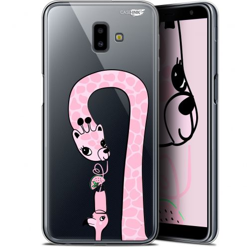 "Carcasa Gel Extra Fina Samsung Galaxy J6 Plus J6+ (6.4"") Design Summer Giraffe"