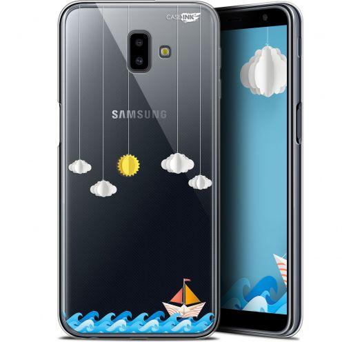 "Carcasa Gel Extra Fina Samsung Galaxy J6 Plus J6+ (6.4"") Design Petit Bateau en Mer"
