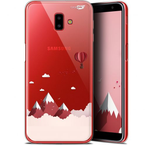 "Carcasa Gel Extra Fina Samsung Galaxy J6 Plus J6+ (6.4"") Design Montagne En Montgolfière"
