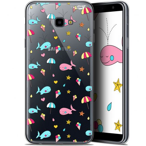 "Carcasa Gel Extra Fina Samsung Galaxy J4 Plus J4+ (6"") Design Baleine à la Plage"