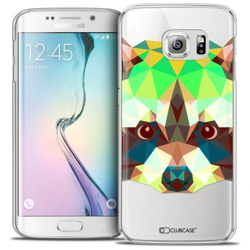 Carcasa Crystal Extra Fina Galaxy S6 Edge Polygon Animals Mapache