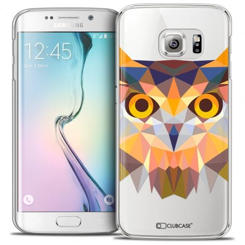 Carcasa Crystal Extra Fina Galaxy S6 Edge Polygon Animals Búho
