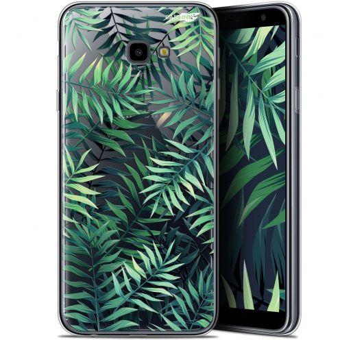 """Carcasa Gel Extra Fina Samsung Galaxy J4 Plus J4+ (6"""") Design Feuilles des Tropiques"""