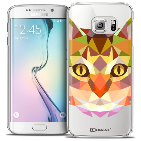 Carcasa Crystal Extra Fina Galaxy S6 Edge Polygon Animals Gato