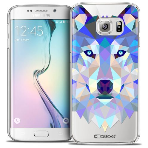 Carcasa Crystal Extra Fina Galaxy S6 Edge Polygon Animals Lobo