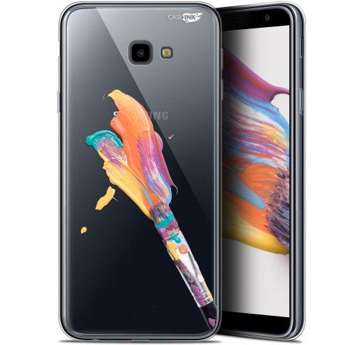 "Carcasa Gel Extra Fina Samsung Galaxy J4 Plus J4+ (6"") Design Pinceau de Peinture"