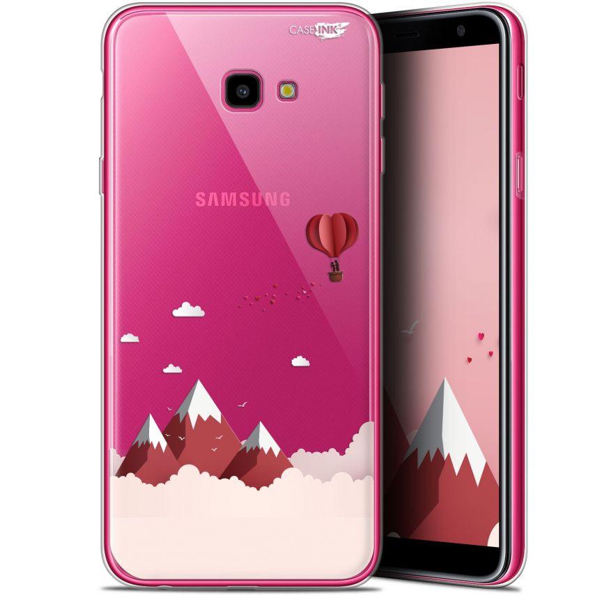 "Carcasa Gel Extra Fina Samsung Galaxy J4 Plus J4+ (6"") Design Montagne En Montgolfière"