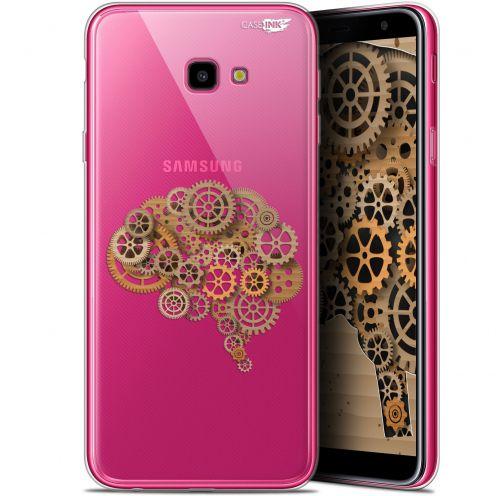 "Carcasa Gel Extra Fina Samsung Galaxy J4 Plus J4+ (6"") Design Mécanismes du Cerveau"