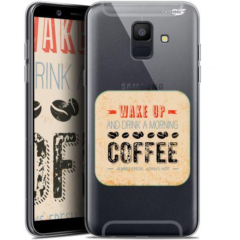 "Carcasa Gel Extra Fina Samsung Galaxy A6 2018 (5.45"") Design Wake Up With Coffee"
