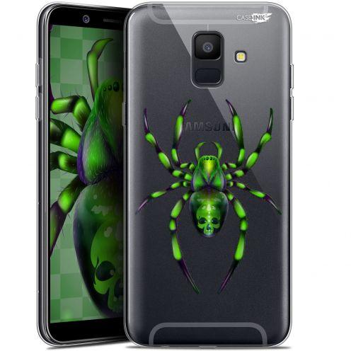 "Carcasa Gel Extra Fina Samsung Galaxy A6 2018 (5.45"") Design Arraignée Verte"