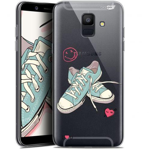 "Carcasa Gel Extra Fina Samsung Galaxy A6 2018 (5.45"") Design Mes Sneakers d'Amour"