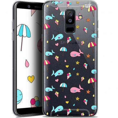 "Carcasa Gel Extra Fina Samsung Galaxy A6 PLUS 2018 (6"") Design Baleine à la Plage"
