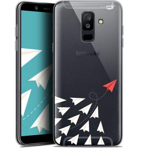 "Carcasa Gel Extra Fina Samsung Galaxy A6 PLUS 2018 (6"") Design Papier Volant"