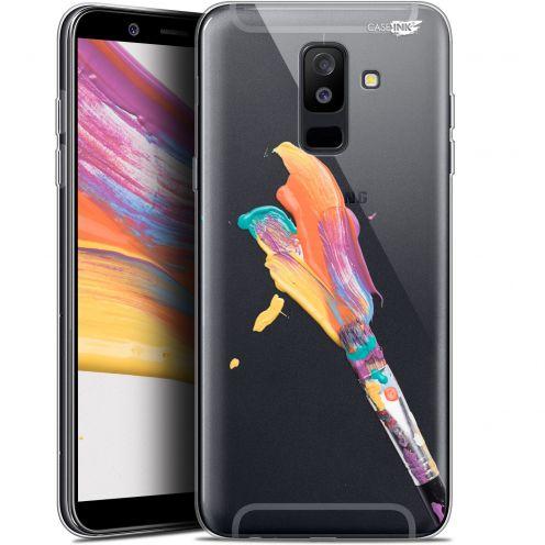 "Carcasa Gel Extra Fina Samsung Galaxy A6 PLUS 2018 (6"") Design Pinceau de Peinture"