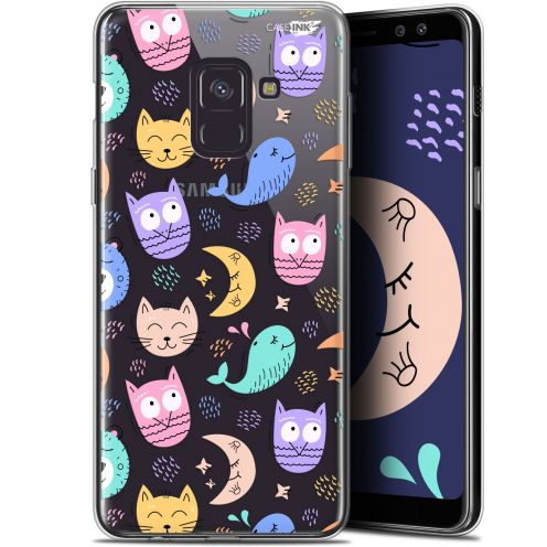 "Carcasa Gel Extra Fina Samsung Galaxy A8 (2018) A530 (5.6"") Design Chat Hibou"