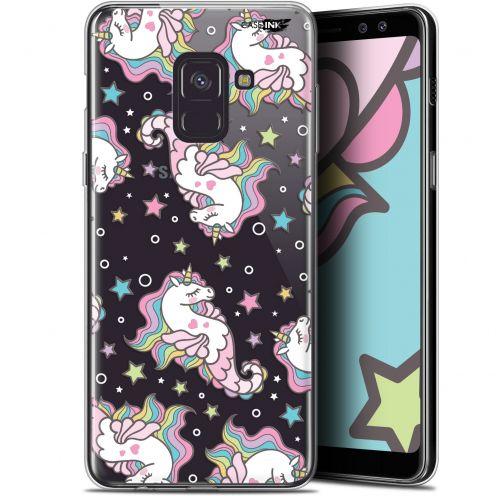 "Carcasa Gel Extra Fina Samsung Galaxy A8 (2018) A530 (5.6"") Design Licorne Dormante"