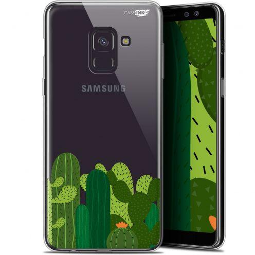 """Carcasa Gel Extra Fina Samsung Galaxy A8 (2018) A530 (5.6"""") Design Cactus"""