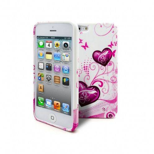 Carcasa iPhone 5S / 5 HEARTS ABSTRACTION Rosa