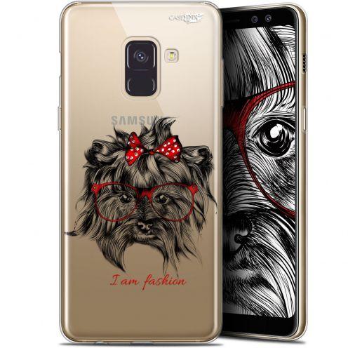 """Carcasa Gel Extra Fina Samsung Galaxy A8 (2018) A530 (5.6"""") Design Fashion Dog"""