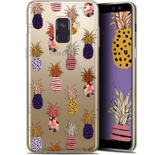 "Carcasa Gel Extra Fina Samsung Galaxy A8+ (2018) A730 (6"") Design Ananas Gold"