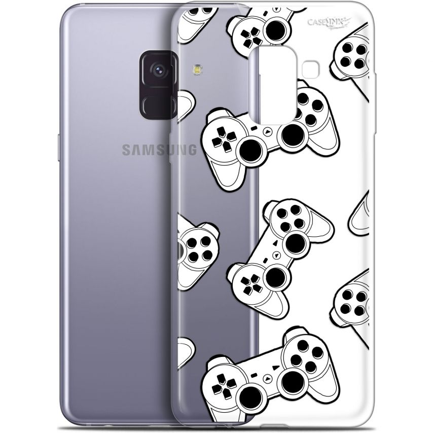 "Carcasa Gel Extra Fina Samsung Galaxy A8+ (2018) A730 (6"") Design Game Play Joysticks"
