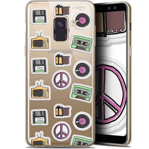 "Carcasa Gel Extra Fina Samsung Galaxy A8+ (2018) A730 (6"") Design Vintage Stickers"