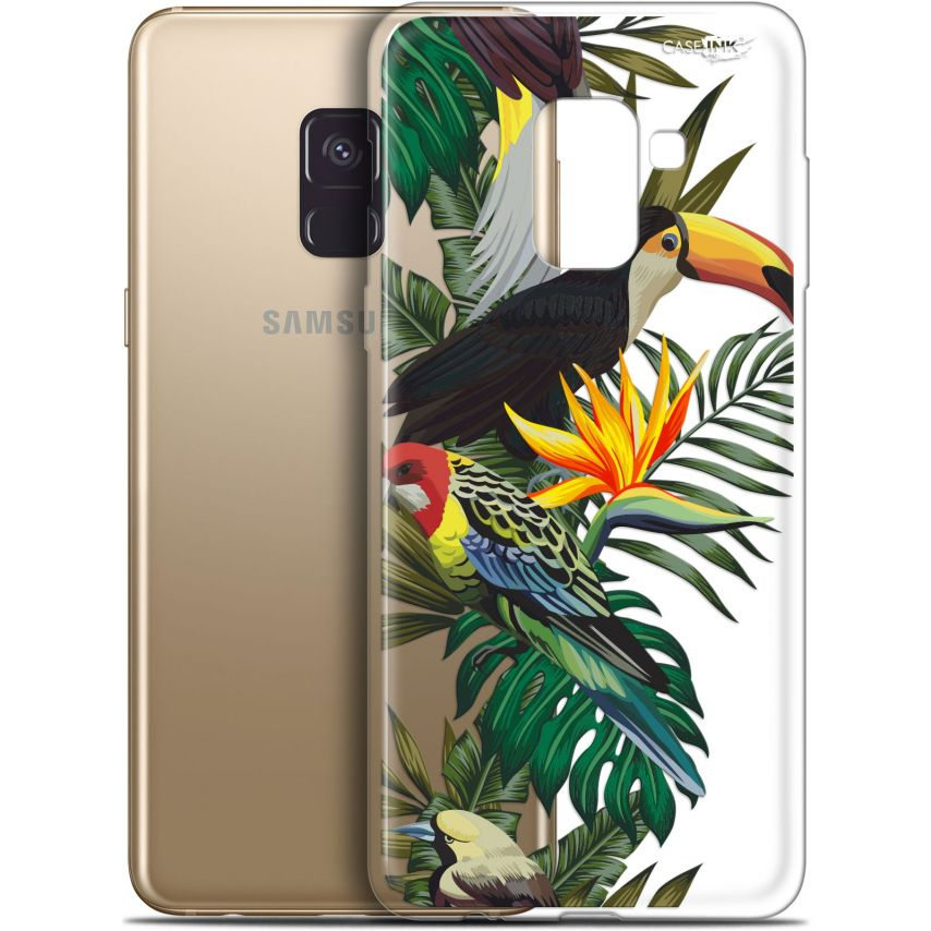 "Carcasa Gel Extra Fina Samsung Galaxy A8+ (2018) A730 (6"") Design Toucan Tropical"
