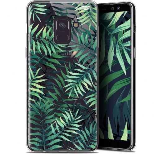 """Carcasa Gel Extra Fina Samsung Galaxy A8+ (2018) A730 (6"""") Design Feuilles des Tropiques"""