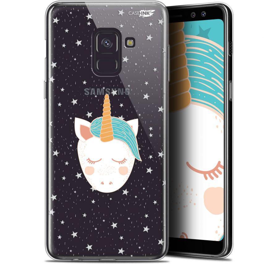 "Carcasa Gel Extra Fina Samsung Galaxy A8+ (2018) A730 (6"") Design Licorne Dors"