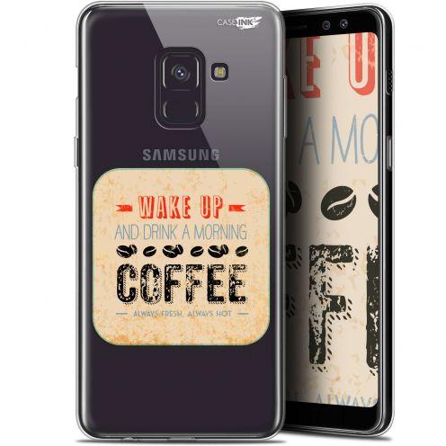 "Carcasa Gel Extra Fina Samsung Galaxy A8+ (2018) A730 (6"") Design Wake Up With Coffee"