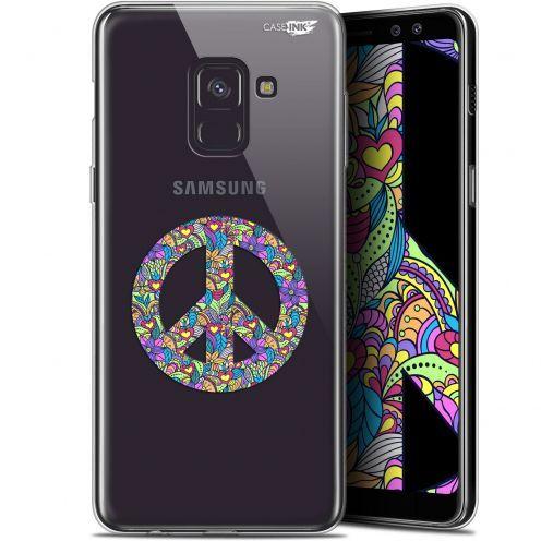 "Carcasa Gel Extra Fina Samsung Galaxy A8+ (2018) A730 (6"") Design Peace And Love"