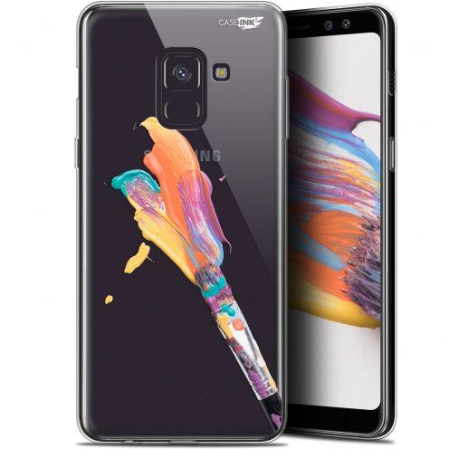 "Carcasa Gel Extra Fina Samsung Galaxy A8+ (2018) A730 (6"") Design Pinceau de Peinture"