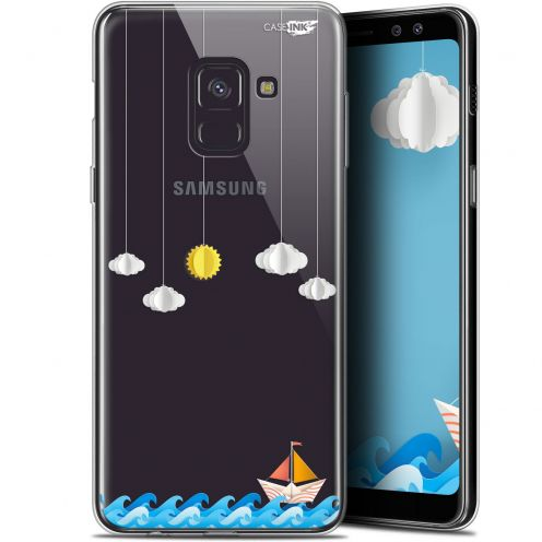 "Carcasa Gel Extra Fina Samsung Galaxy A8+ (2018) A730 (6"") Design Petit Bateau en Mer"