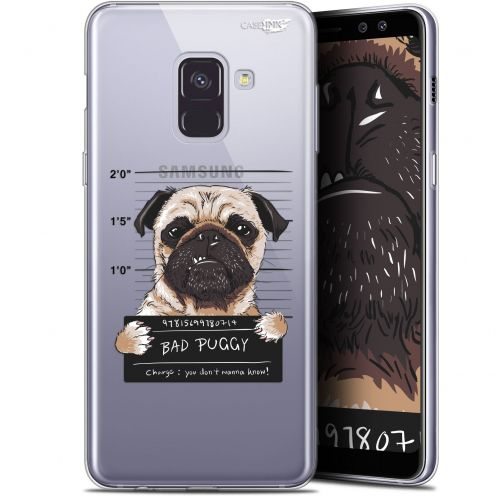 "Carcasa Gel Extra Fina Samsung Galaxy A8+ (2018) A730 (6"") Design Beware The Puggy Dog"