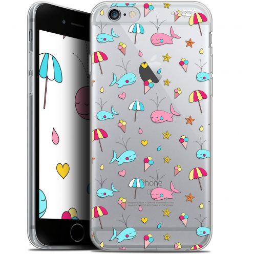 "Carcasa Gel Extra Fina Apple iPhone 6/6s (4.7"") Design Baleine à la Plage"