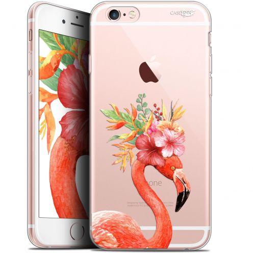 "Carcasa Gel Extra Fina Apple iPhone 6/6s (4.7"") Design Flamant Rose Fleuri"