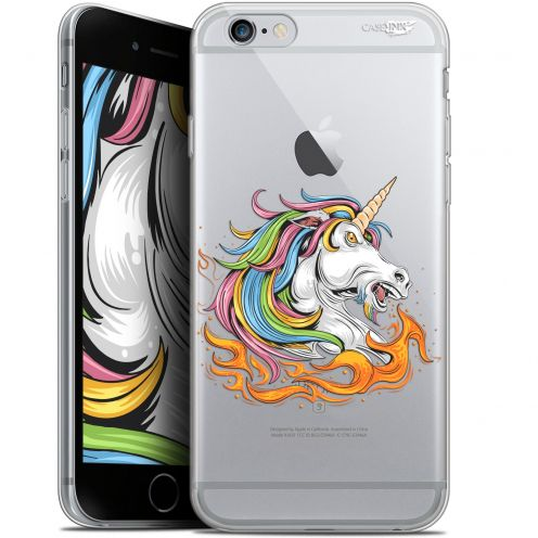 "Carcasa Gel Extra Fina Apple iPhone 6/6s (4.7"") Design Licorne de Feu"