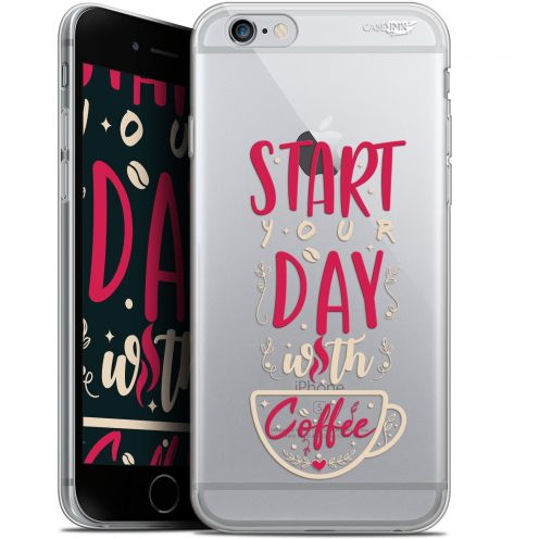 "Carcasa Gel Extra Fina Apple iPhone 6/6s (4.7"") Design Start With Coffee"
