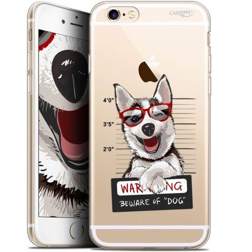 "Carcasa Gel Extra Fina Apple iPhone 6/6s (4.7"") Design Beware The Husky Dog"