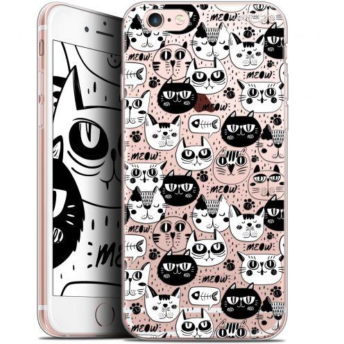 "Carcasa Gel Extra Fina Apple iPhone 6 Plus/ iPhone 6s Plus (5.5"") Design Chat Noir Chat Blanc"